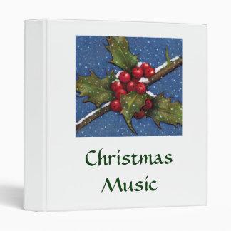 HOLLY, BERRIES, ARTWORK: CHRISTMAS BINDER