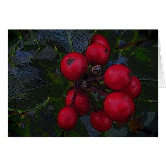 Holly Berries Birthday Card