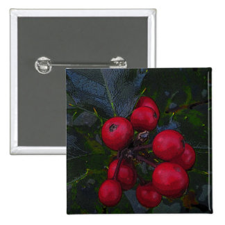 Holly Berries Button