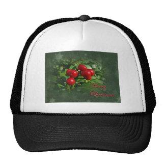 Holly Berries Christmas Greetings Hat