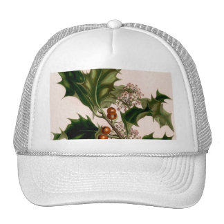 holly berries christmas trucker hat