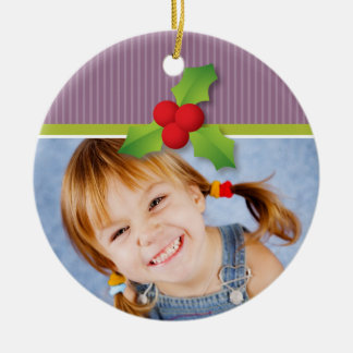 Holly Berries Christmas Ornament (lilac/lime)