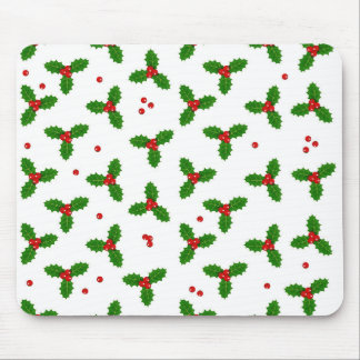 Holly Berries - Christmas pattern Mouse Pad