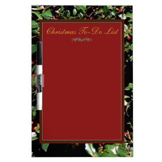 'Holly & Berries'  Dry Erase Board