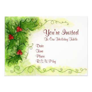 Holly Berries Invitation