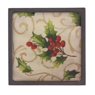 Holly Berries Jewelry Box