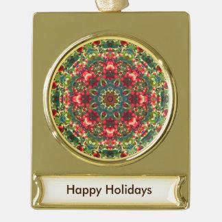 Holly Berries Mandala - Ornament V2