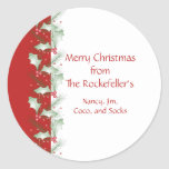 Holly Berries Personalized Christmas Stickers