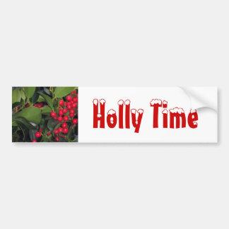 Holly Berries  - Photograph Bumper Sticker