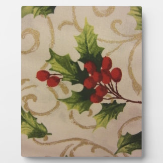 Holly Berries Plaque