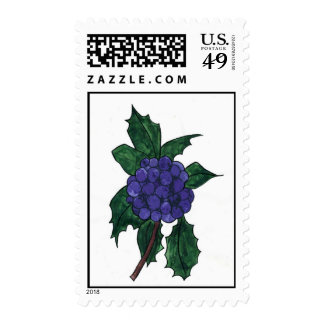 Holly Berries Stamps