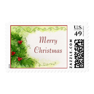 Holly Berries Postage Stamp