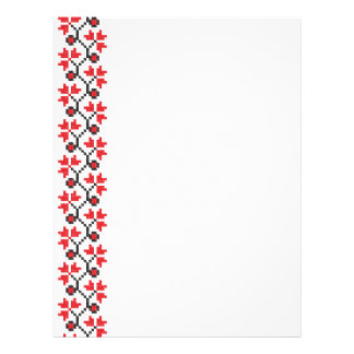 Holly Berries Red flower cross-stitch design Flyer