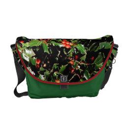 Holly & Berries Rickshaw Messenger Bag