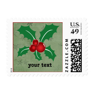 holly berries stamp
