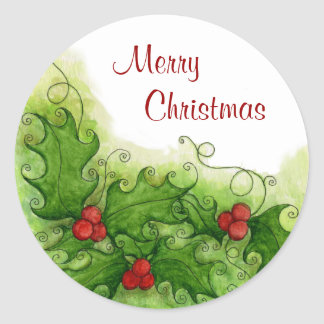 Holly Berries Sticker