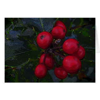 Holly Berries Thank You Card