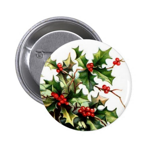 Holly Berry Button