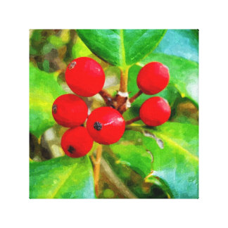 Holly Berry Canvas