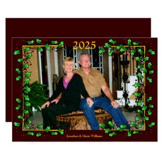 Holly & Berry Christmas Photo Card