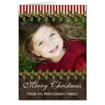 Holly Berry Christmas Photo Greeting Card