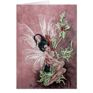 Holly Berry Faery Card