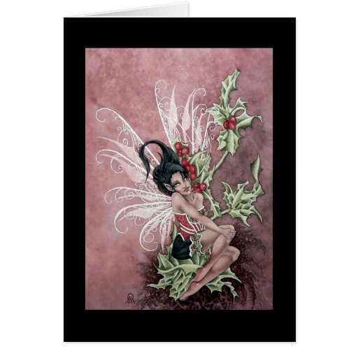 Holly Berry Faery Greeting Cards