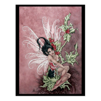 Holly Berry Faery Postcard