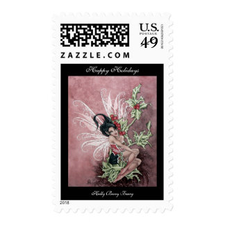 Holly Berry Faery Stamp