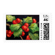 Holly Berry Night Postage Stamp