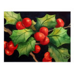 Holly Berry Night Postcards