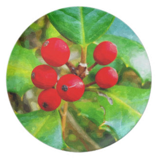 Holly Berry Plates