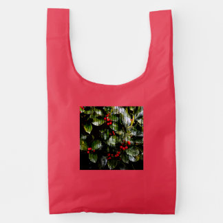 Holly Berry Reusable/Washable Grocery Bags