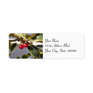 Holly & Berry Small Address Label