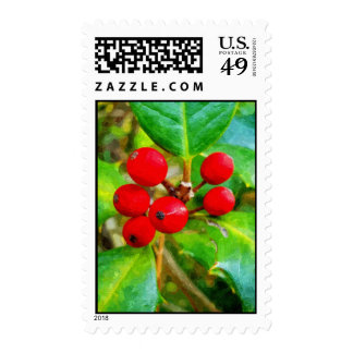 Holly Berry Stamps