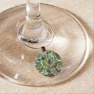 Holly Berry Wine Charm