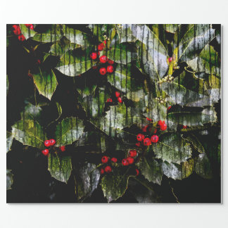 """Holly Berry Wrapping Paper, 30"""" x 6' Wrapping Paper"""