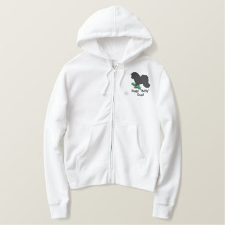 Holly Bichon Frise Embroidered Hoodie