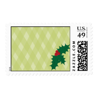 Holly Blank Postage Stamp