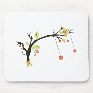 Holly Branch Mouse Pad