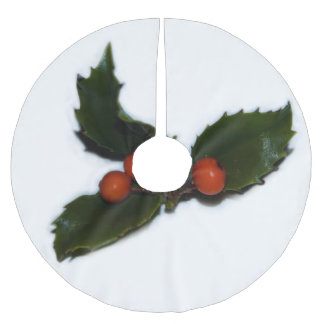 Holly Brushed Polyester Tree Skirt