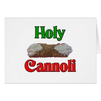 Holly Cannoli Greeting Card