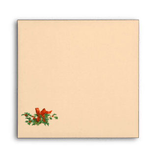 Holly Christmas Envelope Greeting Card