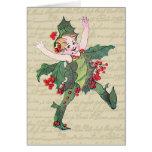 Holly Christmas Fairy Greeting Cards