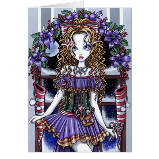 """""""Holly"""" Christmas Party Fairy Card"""