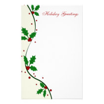 Holly Christmas Stationery