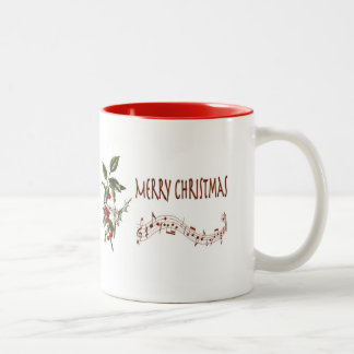 Holly Christmas Two-Tone Coffee Mug