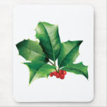 Holly Cluster Mouse Pad