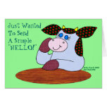 "Holly Cow, ""A Simple Hello"" Cards"