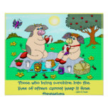 """Holly Cow and Belle Cow, """"Sunshine Picnic"""" Poster"""